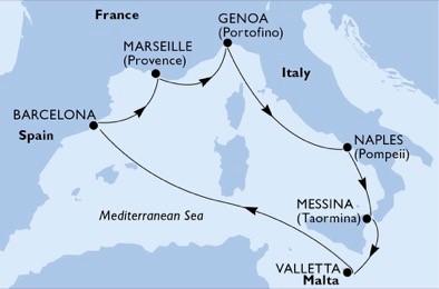 croaziera grup msc 2020 mediterana