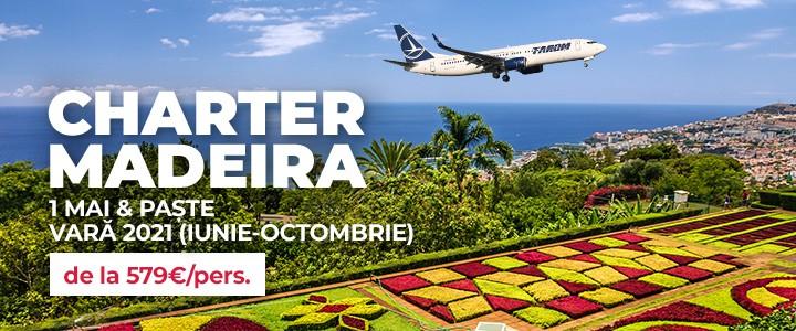 Rezervari charter Madeira 2021 din Bucuresti.