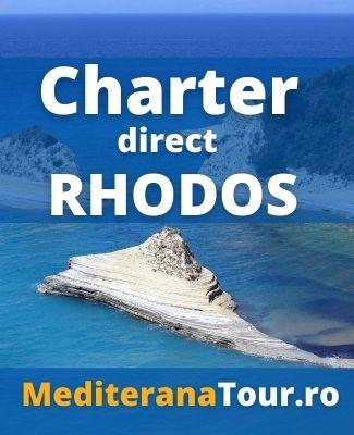 Rezervari charter Rhodos cu zbor din Bucuresti si Cluj